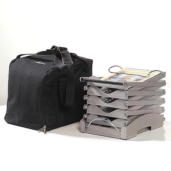 Falt-Prospektständer-Metallic-Design-schwarz-5-x-DIN-A4-1