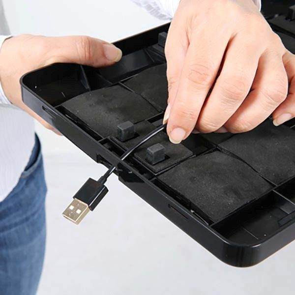 """Gewölbter Tablet Infoständer schwarz für iPad 1 2 3 4 Air Samsung Galaxy und 9.7"""" 10.1"""" Tablets 3"""