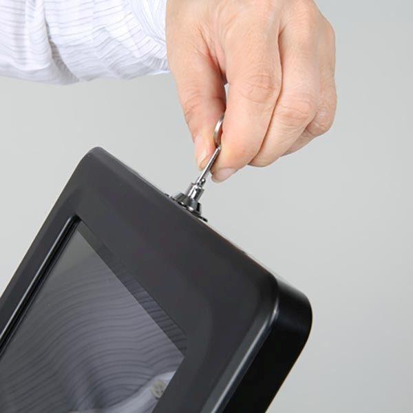 """Gewölbter Tablet Infoständer schwarz für iPad 1 2 3 4 Air Samsung Galaxy und 9.7"""" 10.1"""" Tablets 9"""