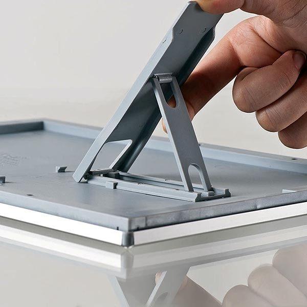 Klapprahmen Opti Frame 14mm DIN A6 Postermaß br mit Rückenstütze 9