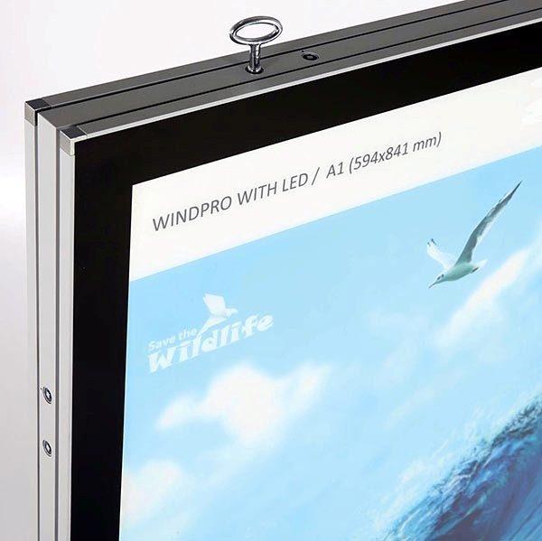 Kundenstopper WindPro LED DIN A1 Postermaß 3