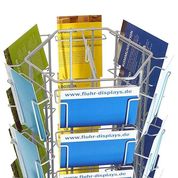 Postkartenständer PKR 60 silber 2