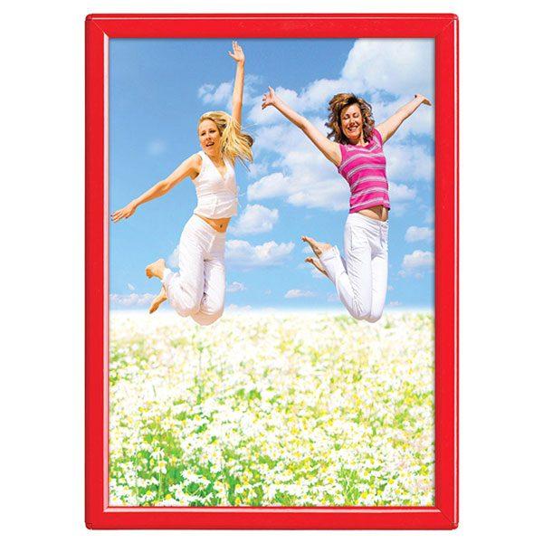 Klapprahmen Opti Frame Rot DIN A4 Postermaß mit Rückenstütze