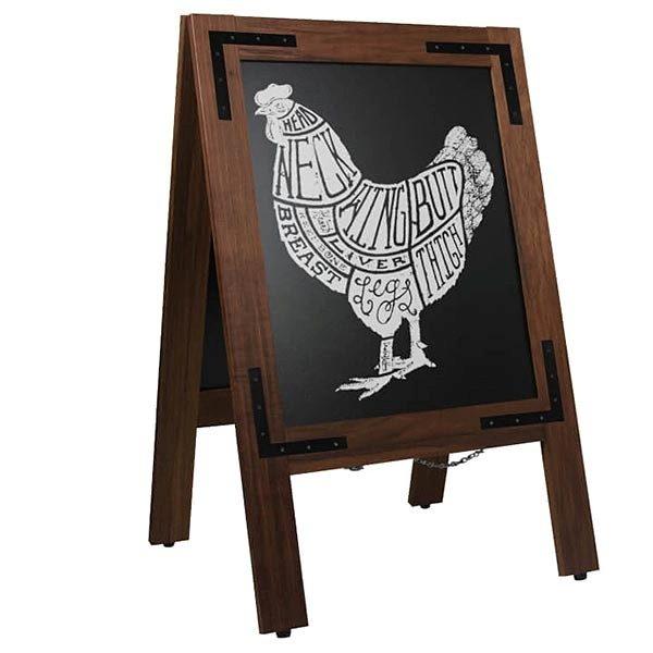 Kundenstopper Holz Noir 420 x 620 mm Schreibfläche
