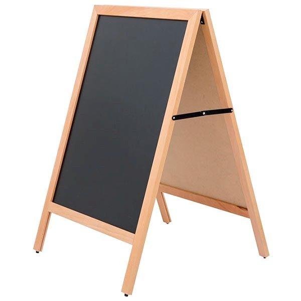 kundenstopper holz standard für den innenbereich 600 x 780 mm schreibfläche