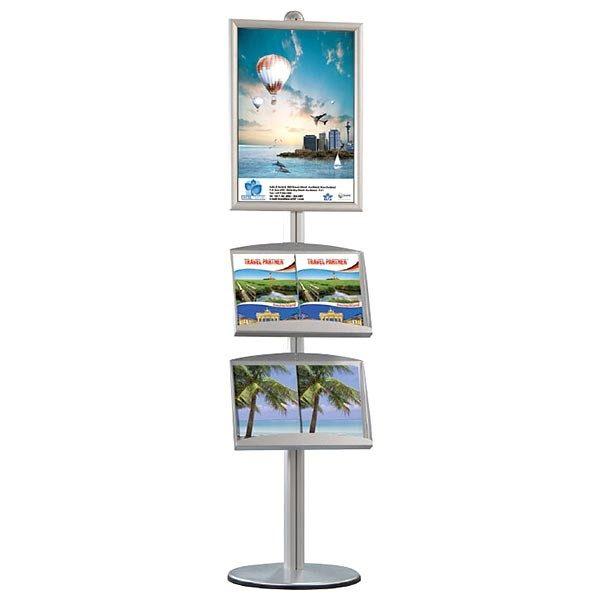 Plakatständer Free einseitig DIN A1 Postermaß, 2x Stahlablage