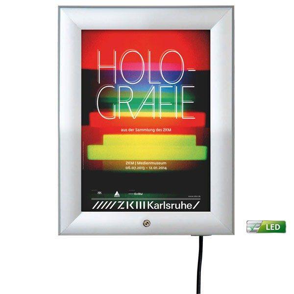 led leuchtrahmen premium outdoor 35mm din a4 postermaß einseitig