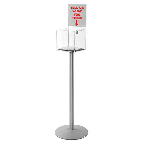 losbox staender mit topschild 30x30x30
